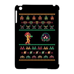 We Wish You A Metroid Christmas Ugly Holiday Christmas Black Background Apple Ipad Mini Hardshell Case (compatible With Smart Cover)
