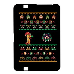We Wish You A Metroid Christmas Ugly Holiday Christmas Black Background Kindle Fire HD 8.9