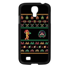 We Wish You A Metroid Christmas Ugly Holiday Christmas Black Background Samsung Galaxy S4 I9500/ I9505 Case (Black)