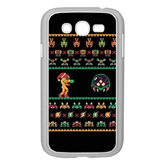 We Wish You A Metroid Christmas Ugly Holiday Christmas Black Background Samsung Galaxy Grand Duos I9082 Case (white)