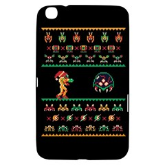 We Wish You A Metroid Christmas Ugly Holiday Christmas Black Background Samsung Galaxy Tab 3 (8 ) T3100 Hardshell Case