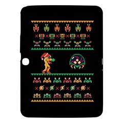 We Wish You A Metroid Christmas Ugly Holiday Christmas Black Background Samsung Galaxy Tab 3 (10 1 ) P5200 Hardshell Case