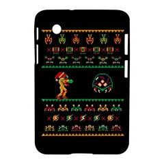 We Wish You A Metroid Christmas Ugly Holiday Christmas Black Background Samsung Galaxy Tab 2 (7 ) P3100 Hardshell Case