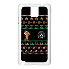 We Wish You A Metroid Christmas Ugly Holiday Christmas Black Background Samsung Galaxy Note 3 N9005 Case (white)