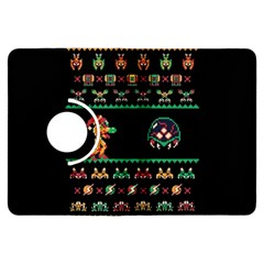 We Wish You A Metroid Christmas Ugly Holiday Christmas Black Background Kindle Fire Hdx Flip 360 Case