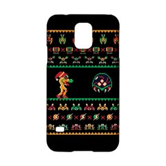 We Wish You A Metroid Christmas Ugly Holiday Christmas Black Background Samsung Galaxy S5 Hardshell Case