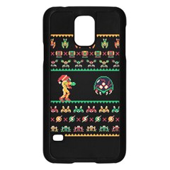 We Wish You A Metroid Christmas Ugly Holiday Christmas Black Background Samsung Galaxy S5 Case (black)