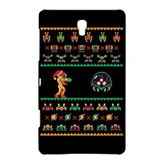 We Wish You A Metroid Christmas Ugly Holiday Christmas Black Background Samsung Galaxy Tab S (8.4 ) Hardshell Case