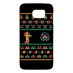 We Wish You A Metroid Christmas Ugly Holiday Christmas Black Background Galaxy S6