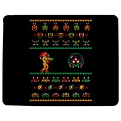 We Wish You A Metroid Christmas Ugly Holiday Christmas Black Background Jigsaw Puzzle Photo Stand (rectangular)