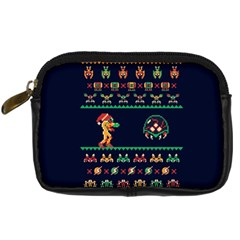 We Wish You A Metroid Christmas Ugly Holiday Christmas Blue Background Digital Camera Cases