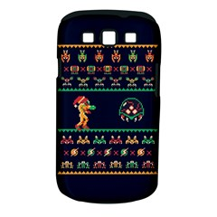 We Wish You A Metroid Christmas Ugly Holiday Christmas Blue Background Samsung Galaxy S Iii Classic Hardshell Case (pc+silicone)