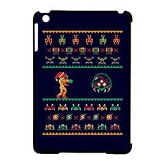 We Wish You A Metroid Christmas Ugly Holiday Christmas Blue Background Apple Ipad Mini Hardshell Case (compatible With Smart Cover)