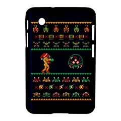 We Wish You A Metroid Christmas Ugly Holiday Christmas Blue Background Samsung Galaxy Tab 2 (7 ) P3100 Hardshell Case