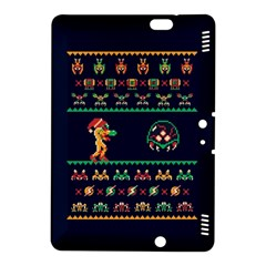 We Wish You A Metroid Christmas Ugly Holiday Christmas Blue Background Kindle Fire Hdx 8 9  Hardshell Case