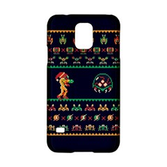 We Wish You A Metroid Christmas Ugly Holiday Christmas Blue Background Samsung Galaxy S5 Hardshell Case