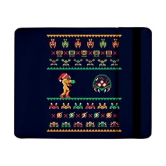 We Wish You A Metroid Christmas Ugly Holiday Christmas Blue Background Samsung Galaxy Tab Pro 8 4  Flip Case