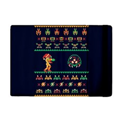 We Wish You A Metroid Christmas Ugly Holiday Christmas Blue Background Ipad Mini 2 Flip Cases