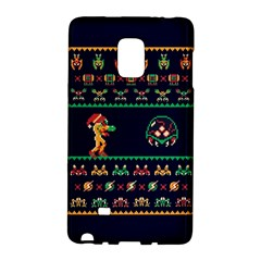 We Wish You A Metroid Christmas Ugly Holiday Christmas Blue Background Galaxy Note Edge