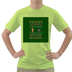 We Wish You A Metroid Christmas Ugly Holiday Christmas Green Background Green T Shirt