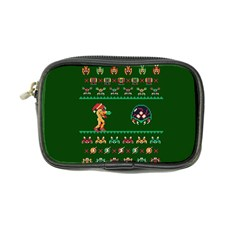 We Wish You A Metroid Christmas Ugly Holiday Christmas Green Background Coin Purse
