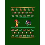 We Wish You A Metroid Christmas Ugly Holiday Christmas Green Background Large Memo Pads 4.125 x5.5  Memopad