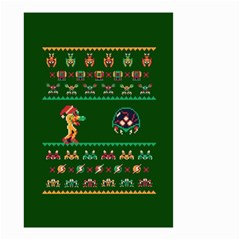 We Wish You A Metroid Christmas Ugly Holiday Christmas Green Background Small Garden Flag (two Sides)