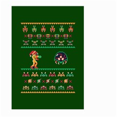 We Wish You A Metroid Christmas Ugly Holiday Christmas Green Background Large Garden Flag (two Sides)
