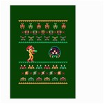 We Wish You A Metroid Christmas Ugly Holiday Christmas Green Background Large Garden Flag (Two Sides) Back