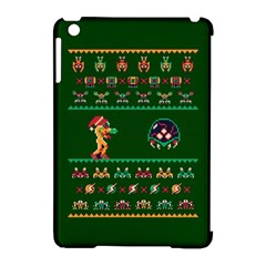 We Wish You A Metroid Christmas Ugly Holiday Christmas Green Background Apple Ipad Mini Hardshell Case (compatible With Smart Cover)
