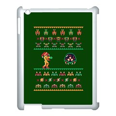 We Wish You A Metroid Christmas Ugly Holiday Christmas Green Background Apple Ipad 3/4 Case (white)