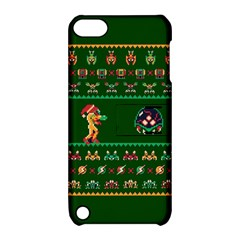 We Wish You A Metroid Christmas Ugly Holiday Christmas Green Background Apple Ipod Touch 5 Hardshell Case With Stand