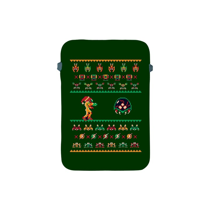 We Wish You A Metroid Christmas Ugly Holiday Christmas Green Background Apple iPad Mini Protective Soft Cases