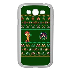 We Wish You A Metroid Christmas Ugly Holiday Christmas Green Background Samsung Galaxy Grand Duos I9082 Case (white)