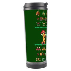 We Wish You A Metroid Christmas Ugly Holiday Christmas Green Background Travel Tumbler