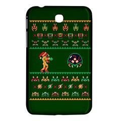 We Wish You A Metroid Christmas Ugly Holiday Christmas Green Background Samsung Galaxy Tab 3 (7 ) P3200 Hardshell Case