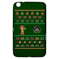 We Wish You A Metroid Christmas Ugly Holiday Christmas Green Background Samsung Galaxy Tab 3 (8 ) T3100 Hardshell Case