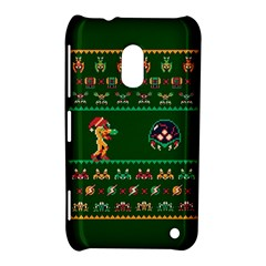 We Wish You A Metroid Christmas Ugly Holiday Christmas Green Background Nokia Lumia 620