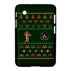 We Wish You A Metroid Christmas Ugly Holiday Christmas Green Background Samsung Galaxy Tab 2 (7 ) P3100 Hardshell Case