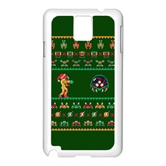 We Wish You A Metroid Christmas Ugly Holiday Christmas Green Background Samsung Galaxy Note 3 N9005 Case (white)