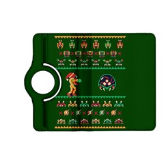 We Wish You A Metroid Christmas Ugly Holiday Christmas Green Background Kindle Fire Hd (2013) Flip 360 Case