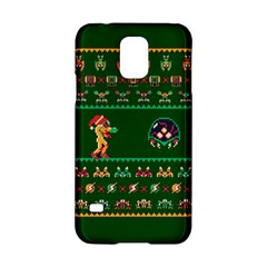 We Wish You A Metroid Christmas Ugly Holiday Christmas Green Background Samsung Galaxy S5 Hardshell Case