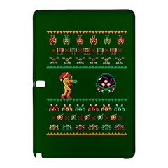 We Wish You A Metroid Christmas Ugly Holiday Christmas Green Background Samsung Galaxy Tab Pro 12 2 Hardshell Case