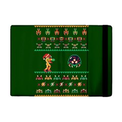 We Wish You A Metroid Christmas Ugly Holiday Christmas Green Background Ipad Mini 2 Flip Cases