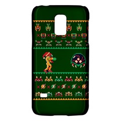 We Wish You A Metroid Christmas Ugly Holiday Christmas Green Background Galaxy S5 Mini