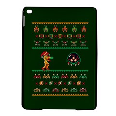 We Wish You A Metroid Christmas Ugly Holiday Christmas Green Background Ipad Air 2 Hardshell Cases