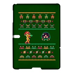 We Wish You A Metroid Christmas Ugly Holiday Christmas Green Background Samsung Galaxy Tab S (10 5 ) Hardshell Case