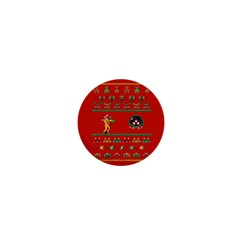 We Wish You A Metroid Christmas Ugly Holiday Christmas Red Background 1  Mini Magnets
