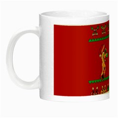 We Wish You A Metroid Christmas Ugly Holiday Christmas Red Background Night Luminous Mugs