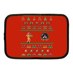 We Wish You A Metroid Christmas Ugly Holiday Christmas Red Background Netbook Case (medium)